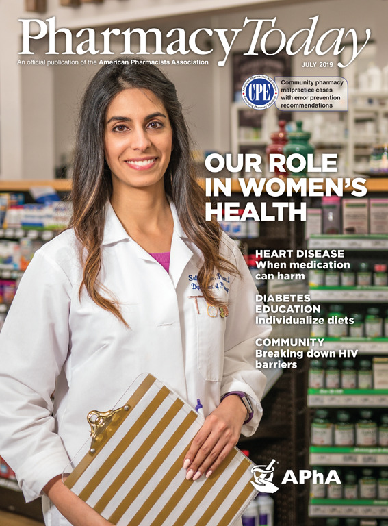 Pharmacy Today Cover Birth Control Pharmacist Sally Rafie