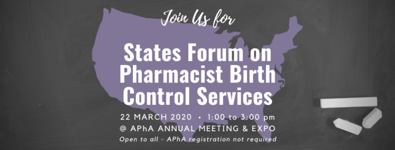 States Forum on Pharmacist Birth Control Services 2020