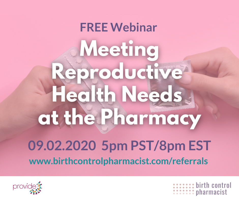 WEBINAR Meeting Reproductive Health Needs at the Pharmacy CE Social Media Image